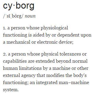 Cyborg Definition Graphic