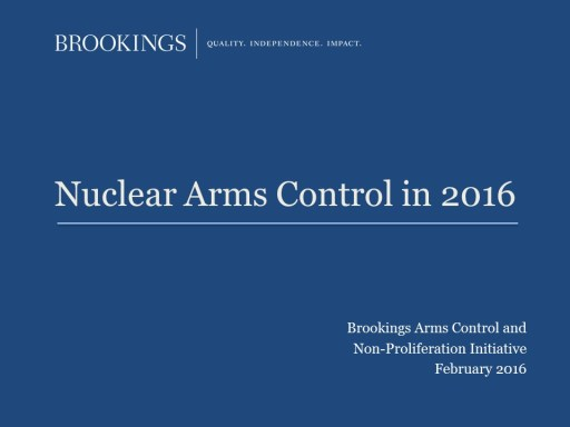 Nuclear Arms Control in 2016