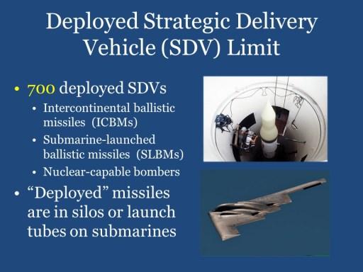 Deployed Strategic Delivery Vehicles (SDV) Limit