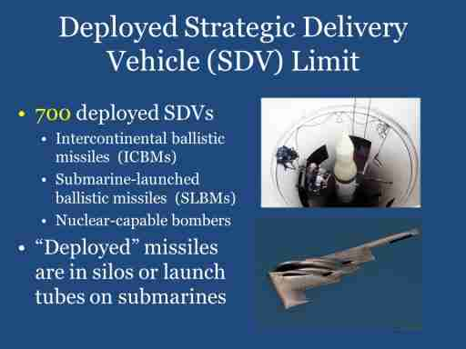 Deployed Strategic Delivery Vehicles (SDV) Limit