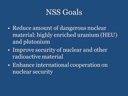 NSS Goals