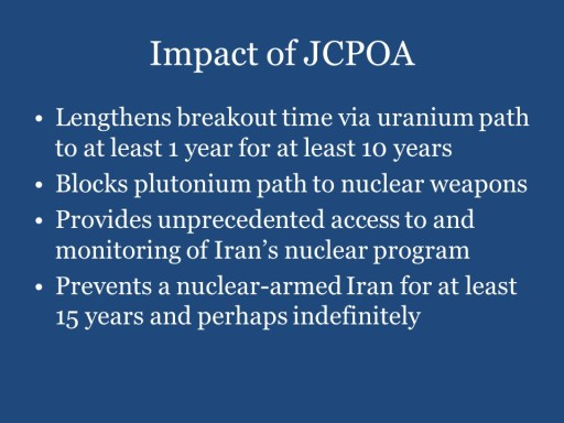 Impact of JCPOA