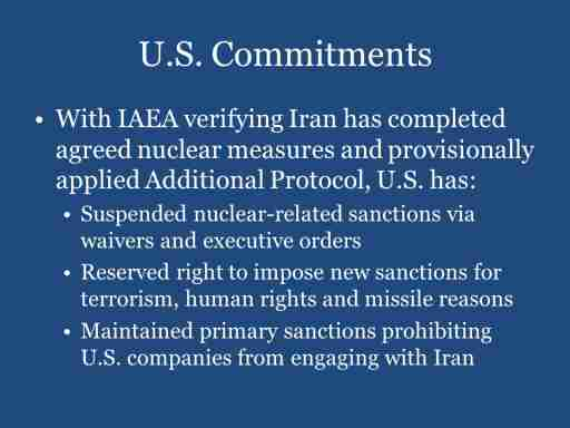 U.S. Commitments