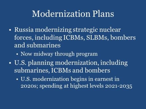Modernization Plans