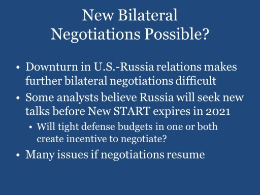 New Bilateral Negotiations Possible?