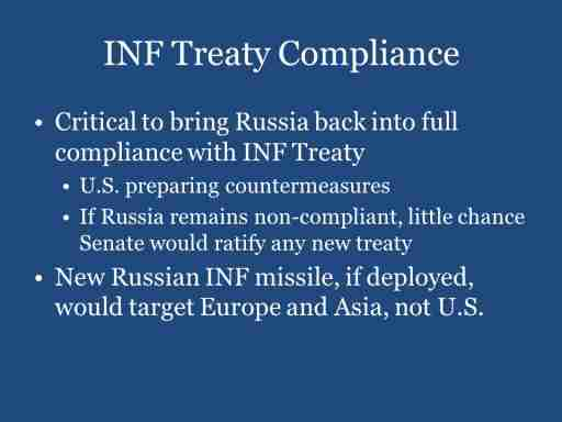 INF Treaty Compliance