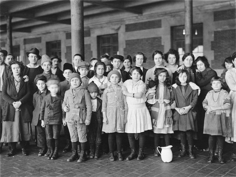 Immigrant children at Ellis Island
