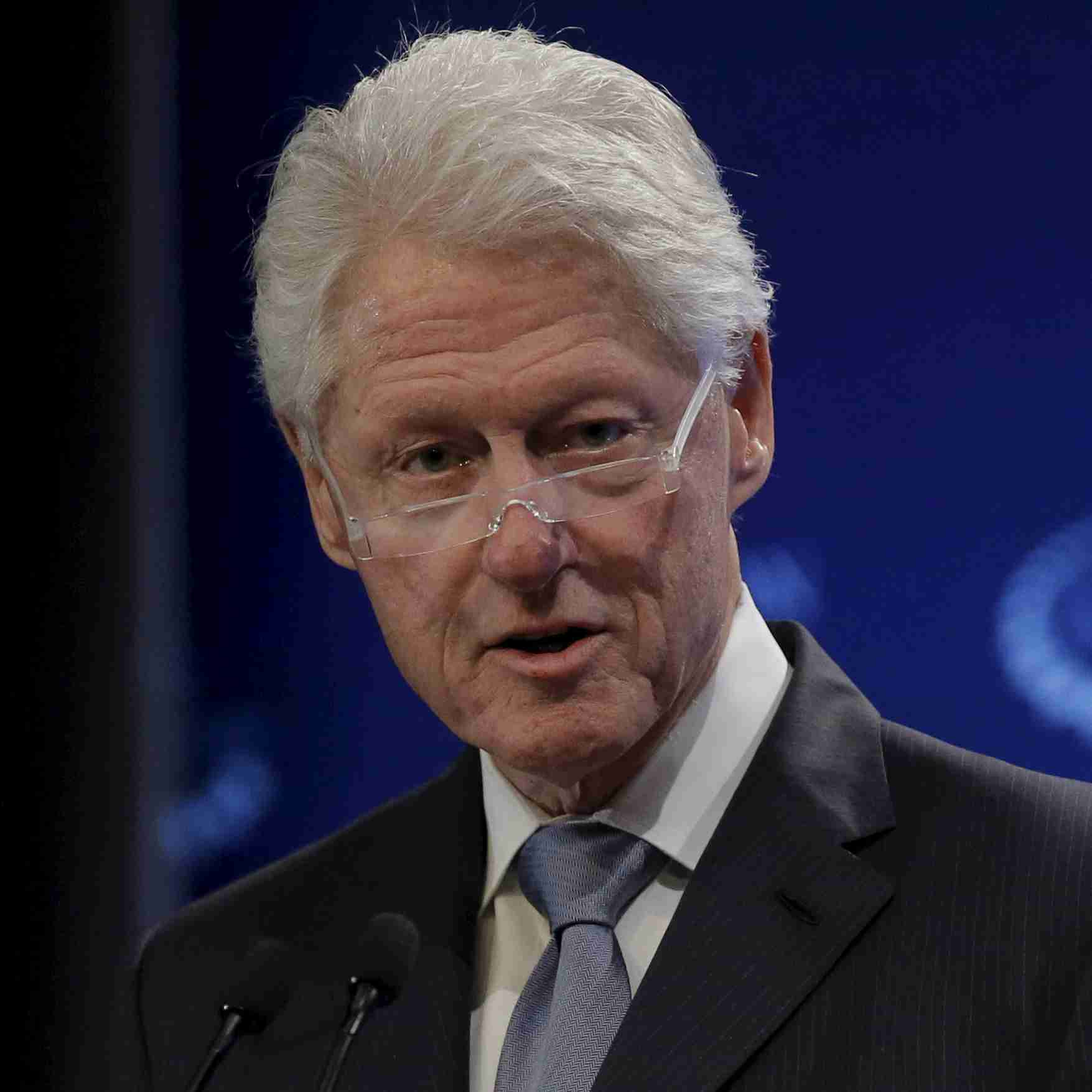 Former U.S. President Bill Clinton speaks during the Clinton Global Initiative's winter meeting in New York, February 4, 2016. REUTERS/Brendan McDermid - RTX25HBP