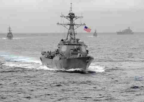 US Navy/CPO John Hageman/Handout - The USS Lassen, which sailed within 12 nautical miles of artificial islands built by China in the South China Sea in October 2015