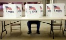 voting station at ohio primary 2012