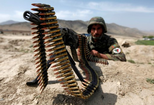 Photo of an Afghan soldier.