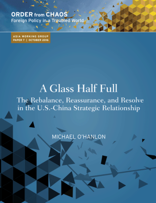 A glass half full report cover.
