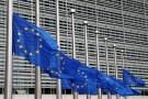 European Union flag at half mast