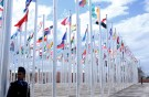 Flags from different countries are displayed at the World Climate Change Conference 2016 (COP22) in Marrakech, Morocco, November 6, 2016. REUTERS/Youssef Boudlal - RTX2S5YN