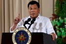 Philippine President Rodrigo Duterte gestures as he delivers a speech during an awarding ceremony for outstanding Filipinos and organizations overseas, at the Malacanang Palace in Manila, Philippines December 19, 2016. REUTERS/Ezra Acayan