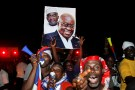 Supporters of Ghana's president-elect Nana Akufo-Addo of the opposition New Patriotic Party (NPP) celebrate on a street in Accra, Ghana, December 9, 2016. REUTERS/Luc Gnago - RTX2UD0K