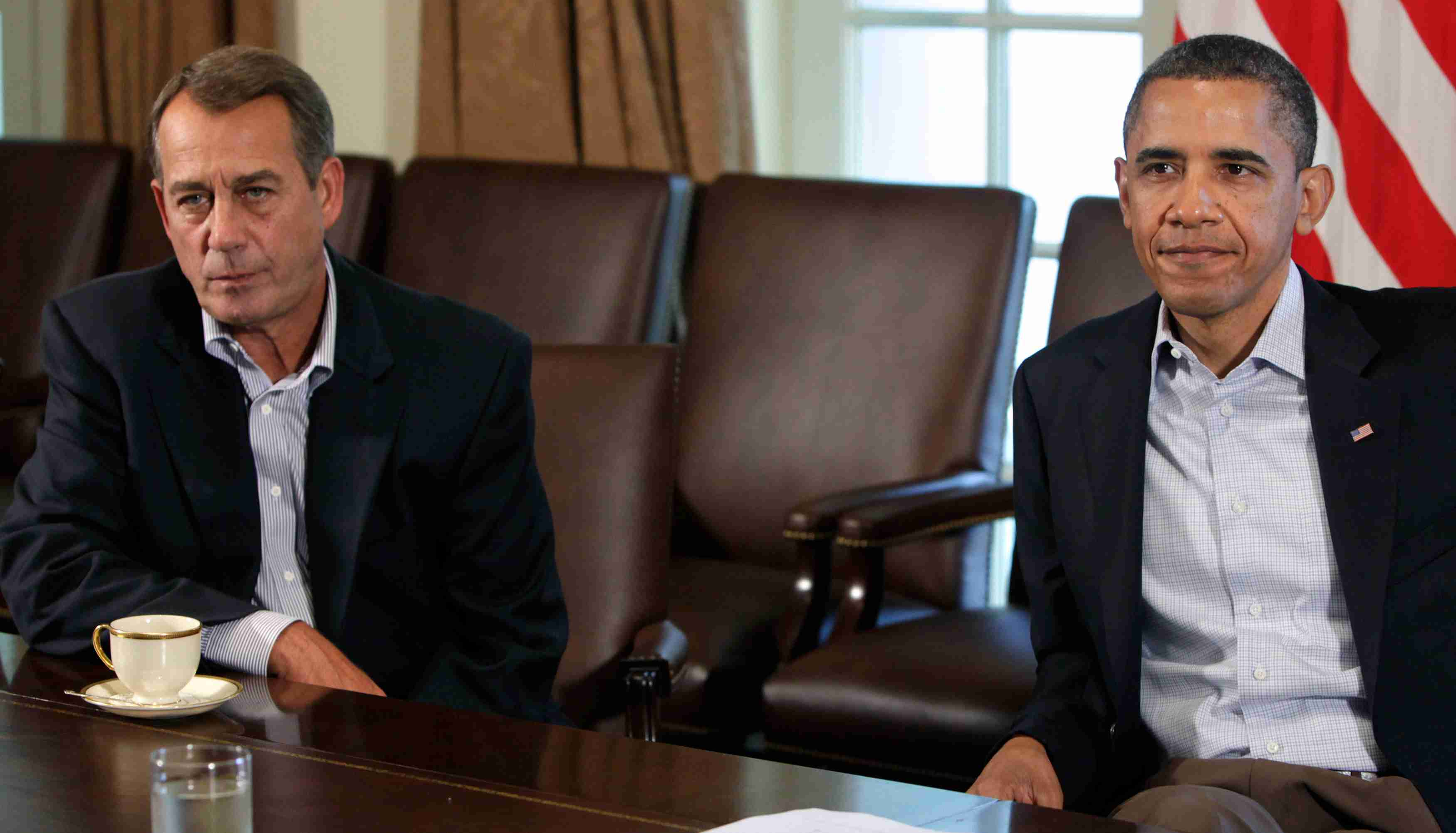 President Barack Obama meets with House Speaker John Boehner about the debt limit