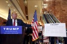 U.S. Republican presidential candidate Donald Trump speaks during a news conference to reveal his tax policy at Trump Tower in Manhattan, New York September 28, 2015.  REUTERS/Shannon Stapleton
