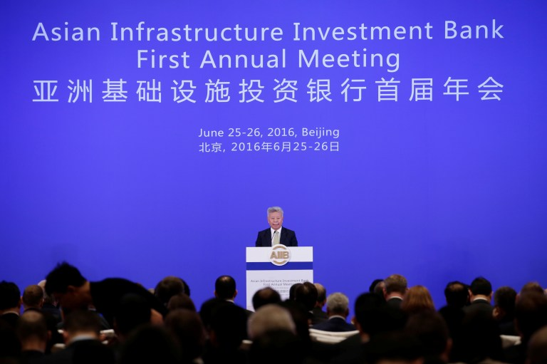 Asian Infrastructure Investment Bank (AIIB) president Jin Liqun attends the opening ceremony of the first annual meeting of AIIB in Beijing, China, June 25, 2016. REUTERS/Jason Lee - RTX2I3RA