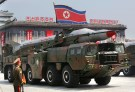 A missile is carried by a military vehicle during a parade to commemorate the 60th anniversary of the signing of a truce in the 1950-1953 Korean War, at Kim Il-sung Square in Pyongyang July 27, 2013. REUTERS/Jason Lee (NORTH KOREA - Tags: POLITICS MILITARY ANNIVERSARY) - RTX120S3
