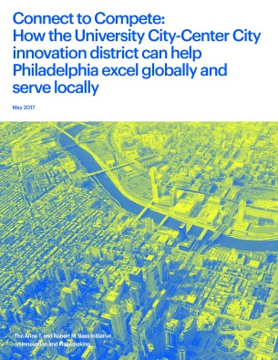The cover of the Philadelphia innovation district report