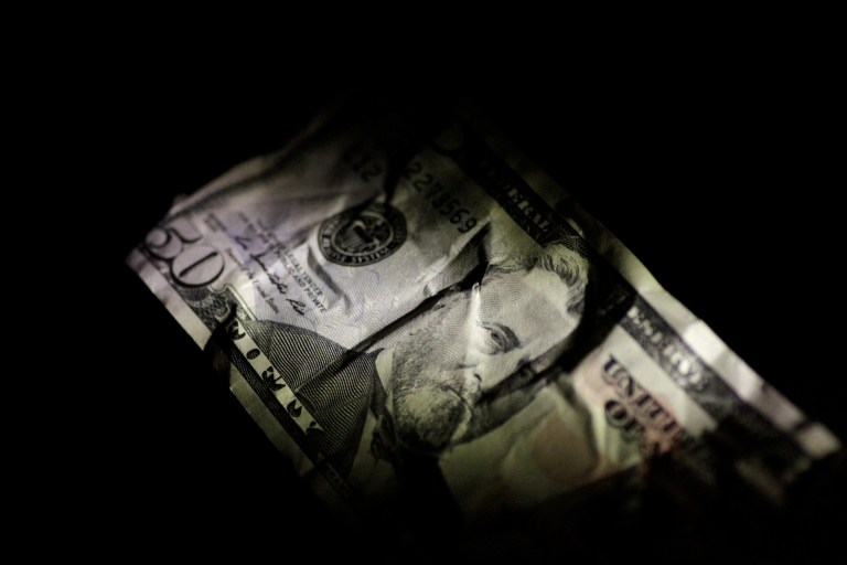 A U.S. Dollar note is seen in this June 22, 2017 illustration photo.
