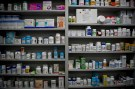 Bottles of medications line the shelves at a pharmacy in Portsmouth, Ohio, June 21, 2017.   REUTERS/Bryan Woolston - RTS18A73