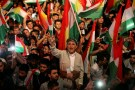 Kurdish people celebrate to show their support for the upcoming September 25th independence referendum in Erbil, Iraq September 8, 2017. REUTERS/Azad Lashkari - RC1655D8A340