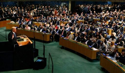 U.S. President Donald Trump addresses the 72nd United Nations General Assembly at U.N. headquarters in New York, U.S., September 19, 2017. REUTERS/Brendan Mcdermid - HP1ED9J1M5PW4