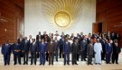 Heads of states and governments pose for a group photo during the opening ceremony of the 29th Ordinary Session of the Assembly of the Heads of State and the Governments in Addis Ababa, Ethiopia July 3, 2017. REUTERS/Tiksa Negeri - RC1318C54750