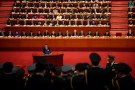 Chinese President Xi Jinping speaks during the opening session of the 19th National Congress of the Communist Party of China at the Great Hall of the People in Beijing, China October 18, 2017. REUTERS/Aly Song - RC1BC278F6F0
