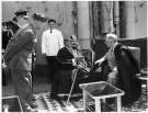 President Roosevelt meets with Saudi King ibn Saud