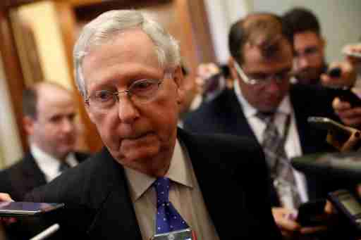 Senate Majority Leader Mitch McConnell speaks to reporters about allegations made against Alabama senate candidate Roy Moore on Capitol Hill in Washington, U.S., November 9, 2017. REUTERS/Aaron P. Bernstein - RC1171E699E0