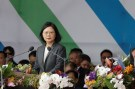 Taiwan President Tsai Ing-wen gives a speech during the National Day celebrations in Taipei, Taiwan, October 10, 2017.