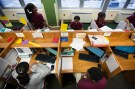 Newark Prep Charter School students sit at their desks studying at the school in Newark, New Jersey April 16, 2013. REUTERS/Lucas Jackson (UNITED STATES - Tags: EDUCATION) - TM4E94Q0XUO01