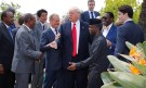 European Council President Donald Tusk (4thL), U.S. President Donald Trump (C), Japanese Prime Minister Shinzo Abe (3rdL) and Canadian Prime Minister Justin Trudeau (R) pose with African leaders after the family photo at the end of the expanded session at the G7 Summit in Taormina, Sicily, Italy, May 27, 2017.       REUTERS/Philippe Wojazer - RC165784CD60