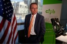 Office of Management and Budget (OMB) Director Mick Mulvaney arrives to speak to the media at the U.S. Consumer Financial Protection Bureau (CFPB), where he began work earlier in the day after being named acting director by U.S. President Donald Trump in Washington November 27, 2017. REUTERS/Joshua Roberts - HP1EDBR1N1A0D