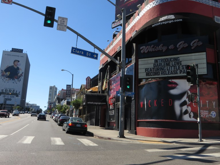 Sunset Strip in West Hollywood, CA.