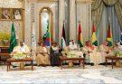Saudi Arabia's King Salman and other GCC leaders at a summit in Riyadh.