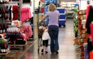 A woman shops with her daughter at a Walmart Supercenter in Rogers, Arkansas June 6, 2013. The annual shareholders meeting for Walmart takes place on June 7. REUTERS/Rick Wilking (UNITED STATES - Tags: BUSINESS) - GM1E96703QJ01