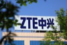 The logo of China's ZTE Corp is seen on a building in Nanjing, Jiangsu province, China April 19, 2018. Picture taken April 19, 2018. REUTERS/Stringer  ATTENTION EDITORS - THIS IMAGE WAS PROVIDED BY A THIRD PARTY. CHINA OUT. - RC1E7CC92770