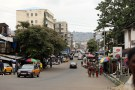 People walk along the business district in Freetown, Sierra Leone August 19, 2017. Picture taken August 19, 2017. REUTERS/Afolabi Sotunde - RC15C62D8D80