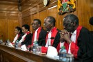 Kenya's Supreme Court judges preside before delivering a detailed ruling laying out their reasons for annulling last month's presidential election in Kenya's Supreme Court in Nairobi, Kenya September 20, 2017. REUTERS/Baz Ratner - RC1EC0C85570