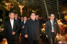 North Korea's leader Kim Jong Un, accompanied by Singapore's Foreign Minister Vivian Balakrishnan, visits Singapore in this picture released on June 11, 2018 by North Korea's Korean Central News Agency.