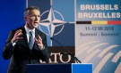 NATO Secretary General Jens Stoltenberg gestures as he gives a news conference ahead of a summit that will gather leaders of the 29 alliance members in Brussels, Belgium, July 10 2018. REUTERS/Reinhard Krause - RC14D4F06960