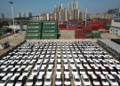 Cars to be exported sit at a port in Lianyungang, Jiangsu province, China August 8, 2018. REUTERS/Stringer ATTENTION EDITORS - THIS IMAGE WAS PROVIDED BY A THIRD PARTY. CHINA OUT.     REUTERS/Stringer - RC1BE44D4870
