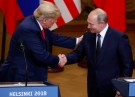 U.S. President Donald Trump and Russian President Vladimir Putin shake hands as they hold a joint news conference after their meeting in Helsinki, Finland, July 16, 2018. REUTERS/Leonhard Foeger - RC1C0A78A3A0