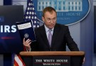 Office of Management and Budget Director Mick Mulvaney holds a briefing on President Trump's FY2018 proposed budget in the press briefing room at the White House in Washington, U.S., May 23, 2017. REUTERS/Jim Bourg - RC1F74BA3970