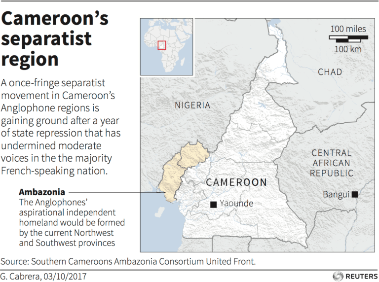 Map, Cameroon