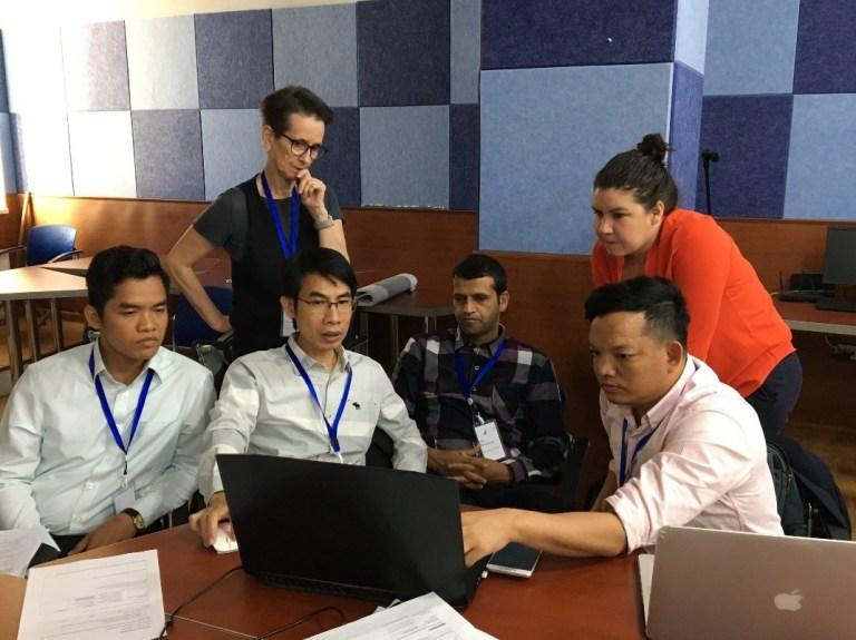 OAA team at work developing assessment tasks